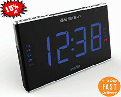 Emerson White Noise Machine Nature Sounds 1.8LED Display Alarm Clock Radio-USA.