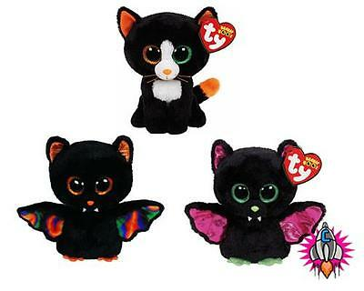 TY BEANIE BOO BABIES PLUSH SOFT TOY HALLOWEEN IGOR SCAREM BAT FRIGHTS CAT