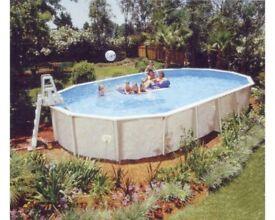 12x24 doughboy heated swimming pool.