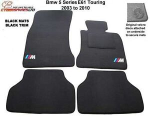 BMW 5 Series E61 Touring 2003 to 2010  M Sport Tailored Car Mats velcro lock