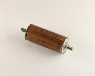 New Sprague 0.02uf 3000v Vitamin Q High Voltage Oil Capacitor 0.02mfd