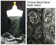 Silver Brocade Fabric