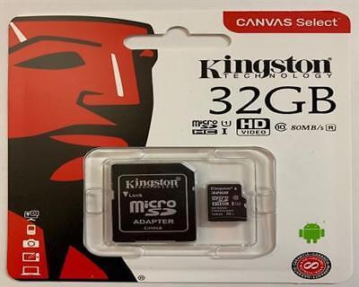 32GB MicroSD Class 10 Speicherkarte Micro SDHC Kingston SD Adapter max 80MB lese