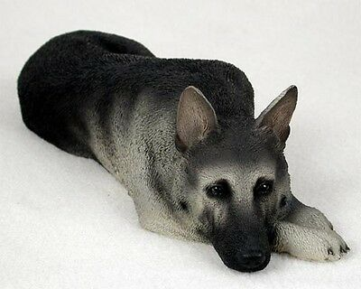 "NEW Silver German Shepherd 8"" Inch Life Like Figurine Sculpture Statue CC-DFL08B"