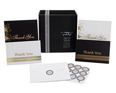 Dankeskarten Menge Set - 100 4x6 Dankeschön Notizen, Umschläge & Aufkleber