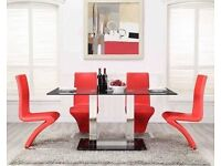 Dinning table with Faux leather four chairs