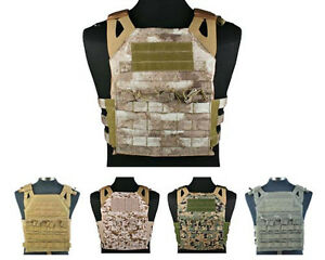 -Military-Paintball-Molle-Plate-Carrier-JPC-Vest-8-Colors-Black