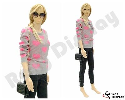 Female Unbreakable Plastic Mannequin Display Dress Form Ps-g5free Wig