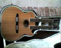 Washburn Double Neck EA 220 Acoustic Electric Natural