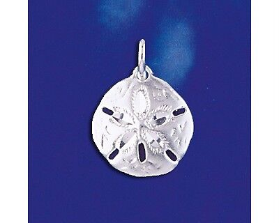 Sterling Silver Sand Dollar Pendant Marine Shell Beach Charm Solid 925 Italy New Sand Dollar Pendant Jewelry