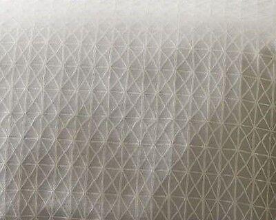 West Elm Painterly Diamond Jacquard King Duvet 3 Standard Shams Stone White