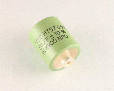 50pf 15000v Ceramic Transmitting Doorknob Capacitor 15kv Dc 15000 Volts Ht57