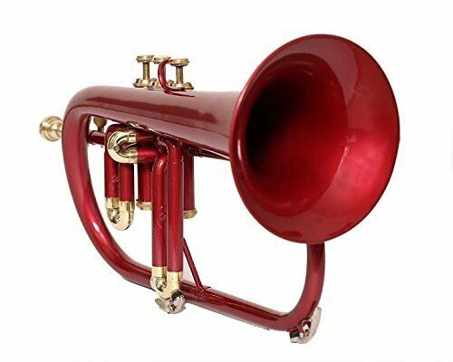 WEEKEND SALE Flugel Horn Bb Pitch Red Color With Free Hard Case And Mp