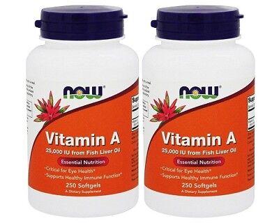 25000 Iu Vitamin (NOW Foods - Vitamin A 25000 IU , 250 Softgel )
