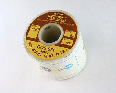 New Kester 24-0060-0018 0.025 Dia Sn60 Alloy 66 Rosin Core 1lb