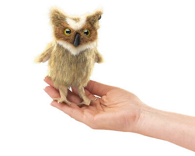 Great Horned Owl Finger Puppet , 6 In Tall, Folkmanis MPN 2752, Boys & Girls