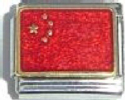 China Italian Charm - Italian Charm Chinese China Flag 9mm fits Classic Starter Bracelets