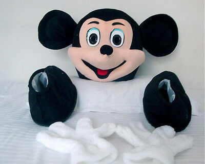 Mickey & Minnie Mouse Costume Mascot Shoes Head Gloves Cartoon Accessories *  (Mouse Costume Accessories)