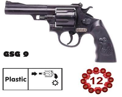 Revolver GSG 9 Kinder Spielzeug Knall-Pistole 12 Schuss zum Spielen od. Karneval