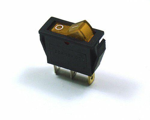 CYGUSA Illuminated 110VAC ON/Off Rocker Switch - Amber