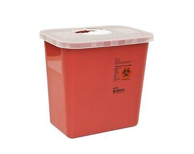 Sharps Needle Disposable Biohazard Container 2 Gallon Red 8970 - 1 Pack