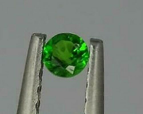 One Natural 2.50mm loose 0.08ct Green Chrome Diopside Round Cut Stone