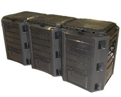 Garten Komposter 1200L schwarz Modul Thermo-Komposter Kompostbehälter Kunststoff