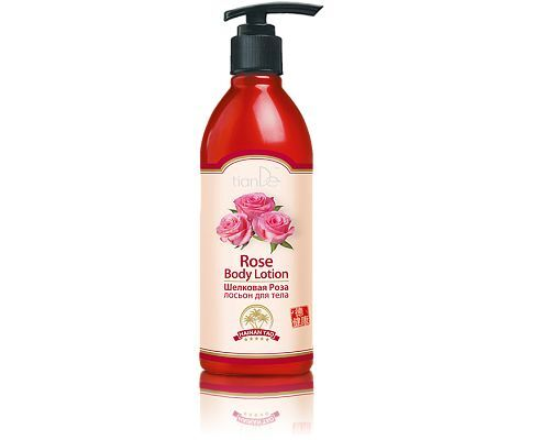 TianDe Silk Rose Body Lotion,350g. hydrates, smoothes, nourishes the skin