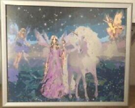 'Fairyland' Scene Painting in Frame