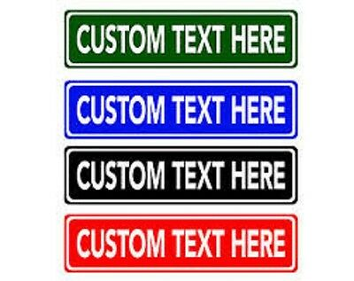 "Make Your Own Personalized Aluminum Rustproof Metal Custom Street Sign 6""X24"""