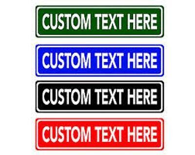 "Make Your Own Personalized Aluminum Rustproof Metal Custom Street Sign 6""X24"""