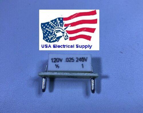 KB/KBIC DC Motor Control Plug-In Horsepower Resistor # 9841, 0.025 Ohms.