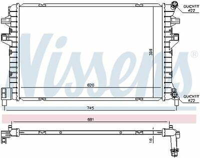 Nissens (65306) Niedertemperaturkühler, Ladeluftkühler für AUDI SEAT SKODA VW