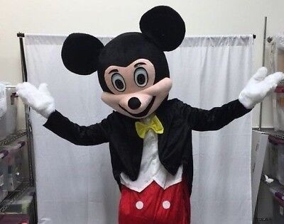 Mickey Mouse Adult Mascot Costume HEAD Disney Halloween Party Birthday Cosplay  - Adult Mickey Mouse Halloween Costume