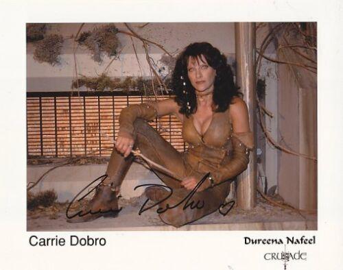 BABYLON 5 CRUSADE CARRIE DOBRO 2 hand signed