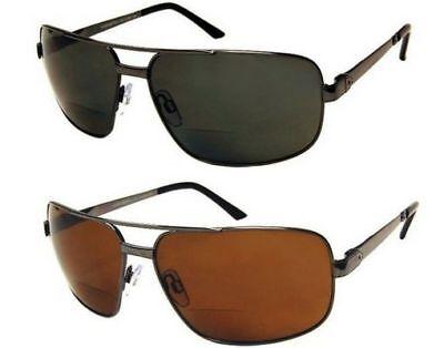 BIFOCAL POLARIZED Sunglasses Reading 100%UV400 Fishing Men Aviator (Bifocal Sunglasses For Men)