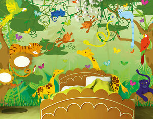Photo Wall Mural COMIC JUNGLE 400x280 kids wall decor Wallpaper Art Wall art