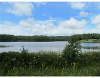 Waterfront Acreage on Quiet Lake, West Views, Well and Septic