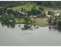 Campground 80 sites 6 cottages Constant lake 130 km W of Ottawa