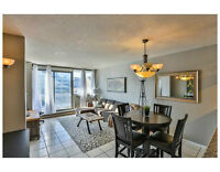 Downtown 2-bedroom condo with underground parking and private ba