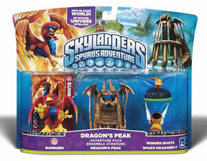 Skylanders-Spyros-Adventure-Dragons-Peak-Adventure-Pack-Wii-ps3-XBOX-360-3ds