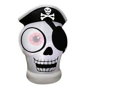 5 FT Tall Inflatable ONE-EYED PIRATE SKULL