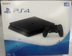 Ps4 slim 1TB with controller and leads