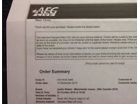 Justin Bieber x 2 seats Manchester arena Thursday 20th October