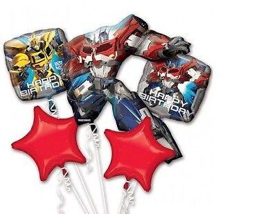 Transformers 5 Piece Birthday Foil Mylar Balloon Bouquet Party Decorating](Transformer Balloons)