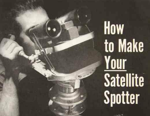 Binocular Stand Satellite Spotter Tracker How-To build PLANS