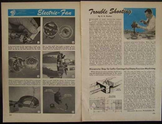 Vintage Electric Fan 1949 Vintage How-To Repair INFO Trouble Shooting
