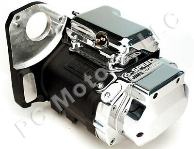 JIMS 6-SPEED LEFT SIDE DRIVE TRANSMISSION WITH PRECISION CUT GEARS; EVO SOFTAIL
