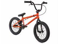 bmx orange frame black wheels £50.00