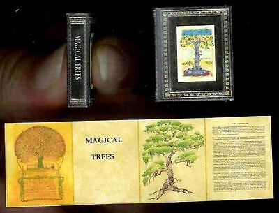 Dollhouse Mini Illustrated Halloween Magic Book Magical Trees Artisan Miniatures](Halloween Mini Books)
